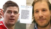 Jansrud fikk hilsen fra fotballhelten Steven Gerrard