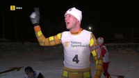 Henrik Elvestad konkurrerer mot barn i skiskyting