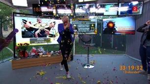Her stormes Eli Kari med konfetti og Champagne - verdens lengste værmelding er over!