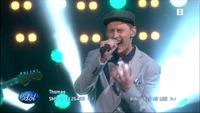 Thomas Sarpebakken Pettersen synger «All Along The Watchtower» i Idol-semifinalen