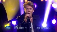 Jesper Jenset synger «Sing» i Idol-semifinalen