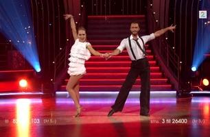 Agnete Kristin Johnsen danser cha cha cha