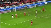 Sjanse: Pedersen 1-1 (45)