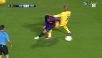 Suárez scoret sitt første for Barca etter denne frekkisen