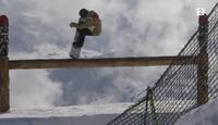 Her er den Hawaii-inspirerte slopestyle-løypen i Burton European Open