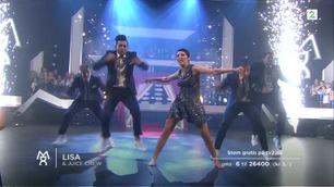 Lisa Tønne og Juice danser andre finaledans i «Mitt Dansecrew»