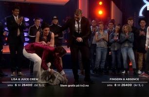 Lisa Tønne skadet kneet under Mitt Dansecrew-finalen