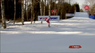 Heier på Bjørgen - så løper Erlend (24)  i et tre!