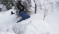 Se Marcus (15) ta ekstreme triks i japansk puddersnø