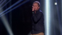 Fredrik Johansen på blind audition i The Voice