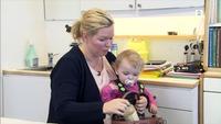Alma (1,5 år) fikk kraftig allergiutbrudd av anbefalt babyolje og babykrem