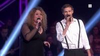 Filip Bernard Jensen og Anette Marie Fossum i The Voice-duell