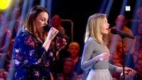 Hege Bjerkreim og Yvonne Nordvik Sivertsen i The Voice-duell