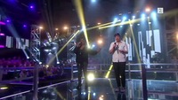 Bjørn Olav Edvardsen og England Brooks-Ellingsen i The Voice-duell