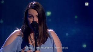 Yvonne Nordvik Sivertsen synger den andre sang i The Voice