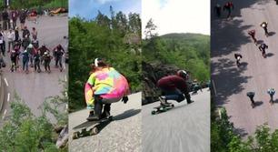 Se longboard-jentenes utrolige hastigheter ned fjellsiden