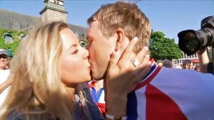 Edvald klinte til med kjæresten etter NM-seieren