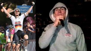 Se «Gorillaen» Greipel lade opp til Tour de France med rapping