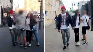 Slik reagerer russere på to gutter som holder hender