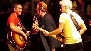 13-åring blåste alle av banen under U2-konsert