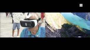 Her flyr Åse (82) ned en fjellside i Stryn