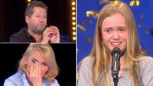 Tårene trillet da Sigrid (12) sang seg til gullknapp i Norske Talenter