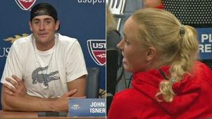 Tennis-stjernene flørtet på pressekonferanse