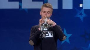 Kristian Aslak Baasland Carstensen (5457) spiller trompet i Norske Talenter