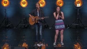 Aira og Even Winther Eikeli Asak (5339) synger på Norske Talenter-dommerutvelgelsen