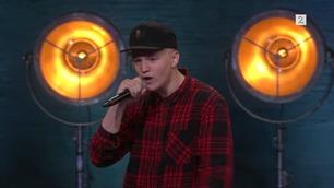 Marius Hantho (4176) rapper på Norske Talenter-dommerutvelgelsen