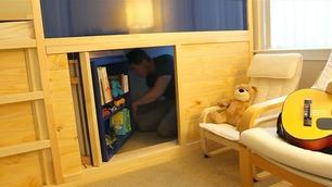 Slik bygget faren verdens tøffeste barneseng av vanlige Ikea-møbler