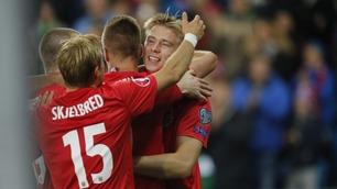 Søderlund fikk målet sitt da Norge vant