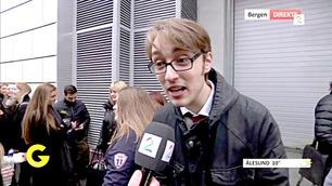 Går han videre i Idol? Se video fra auditionkøen i Bergen!