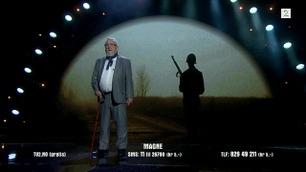 Magne Larsen leser diktet «Bønn til en soldat» i Norske Talenter-finalen
