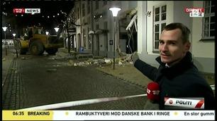 Bankbygning nær kollaps etter frekt innbrudd