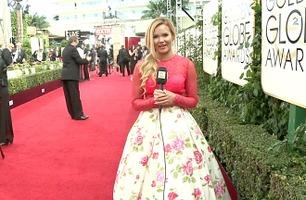 TV 2 er på plass på den røde løperen før nattens Golden Globe-show