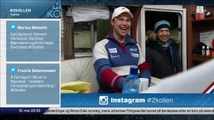 Ole Einar Bjørndalen besøkte plutselig Camp Kollen
