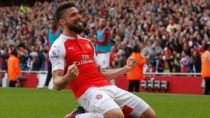 Hat trick av Giroud ga Arsenal andreplass i Premier League