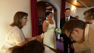 Eva og Jon Arve måtte trekke kølapp for å gifte seg