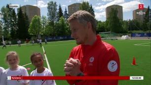 Se 12-åringenes reaksjon da Solskjær dukket opp som trener