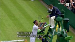 Vill Wimbledon-tirade: – Du er en verdens verste dommer! Du er en idiot!