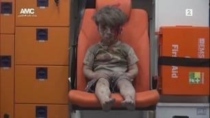 Bilder av den syriske femåringen går verden rundt