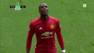 Pogba scoret sitt første United-mål da Leicester ble rundspilt