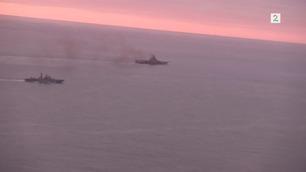 Se 333-skvadronens overvåkingsvideo av de russiske krigsskipene