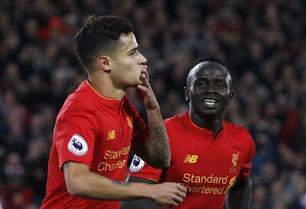 Mané og Coutinho fikset Liverpool-seier med kunstscoringer