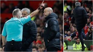 Mourinho sendt på tribunen etter Pogba fikk gult kort for filming