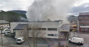Brann i lagerbygg i Fyllingsdalen