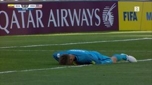 Her kløner Klinsmanns keepersønn det til