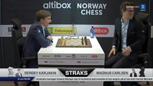 Konkurrenten brøt ut i latter etter Carlsens tabbe