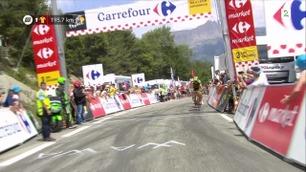 Romain Sicard først over tredje- kategorien Col Lebraut.